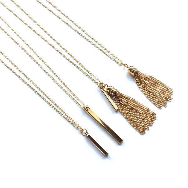 Petite Tassel Necklace | Long