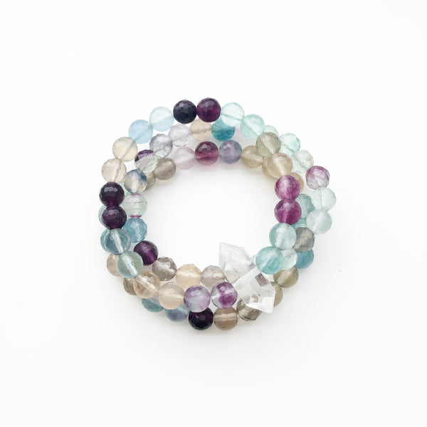 The BALANCING JUJU Bracelet Set in Fluorite | Limited Edition
