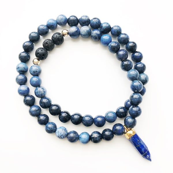 THAT GOOD JUJU Beaded Diffuser Wrap | Dumortierite