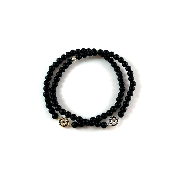 Tiny Pave Lucky Eye Bracelet