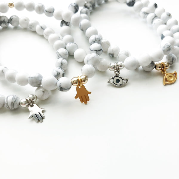 A Little Luck Evil Eye Bracelet | Sterling or Gold Vermeil