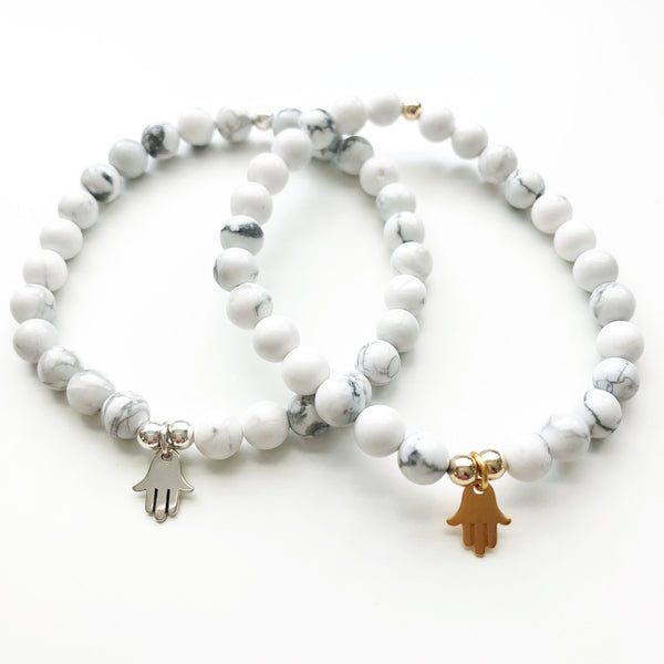 A Little Luck Hamsa Bracelet | Sterling or Gold Vermeil
