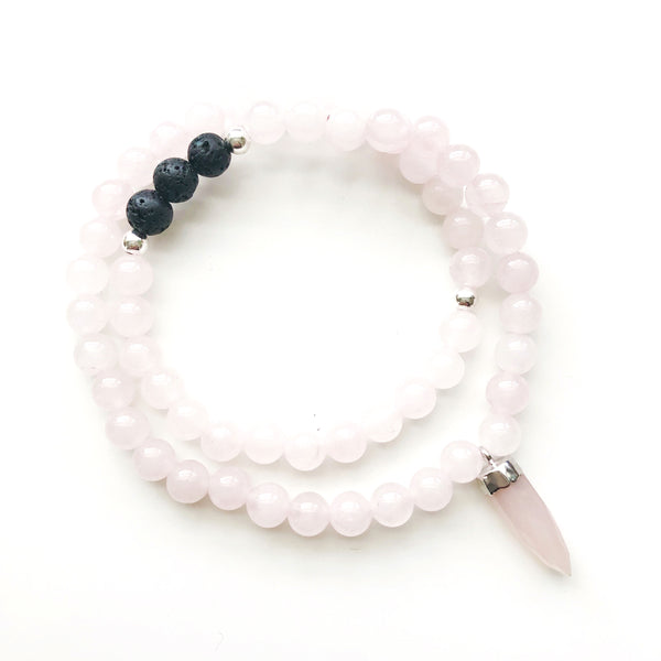 THAT GOOD JUJU Beaded Diffuser Wrap | Rose Quartz