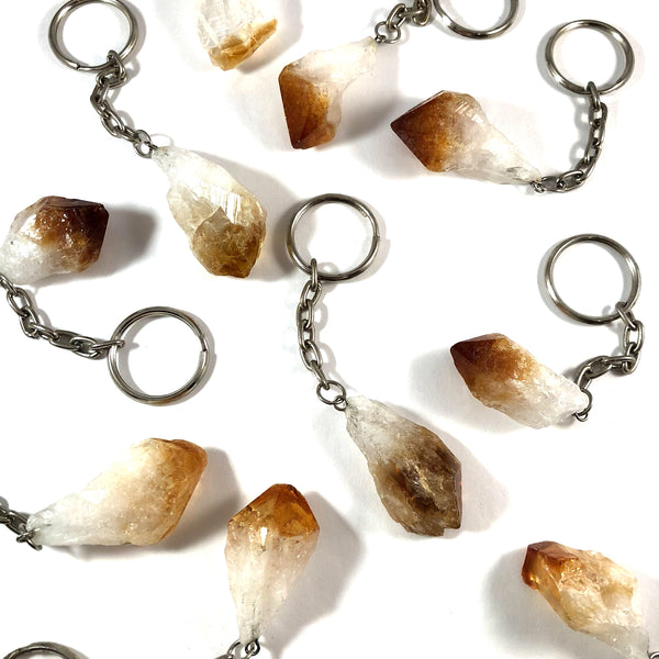 Gemstone Keychain | Citrine Point
