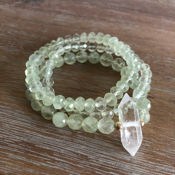 The HEART JUJU Bracelet Set in Prehnite | Limited Edition