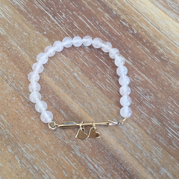 Arrow Bracelet | Heart Charm Add-On Only
