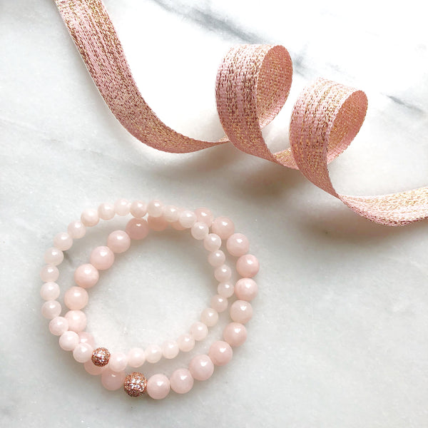 A Twinkle Stack | Blush + Rose Gold