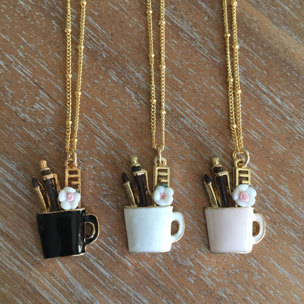 Enamel Mug Necklace