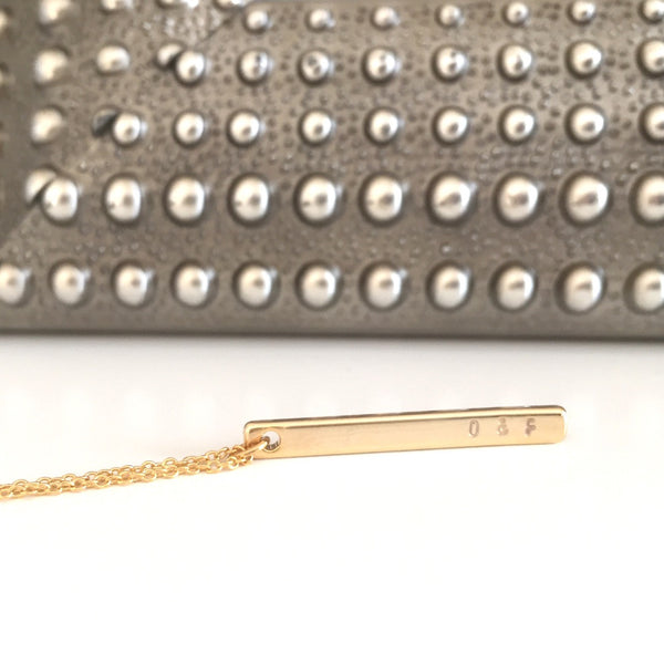 "Petite 1.25"" Bar Necklace 