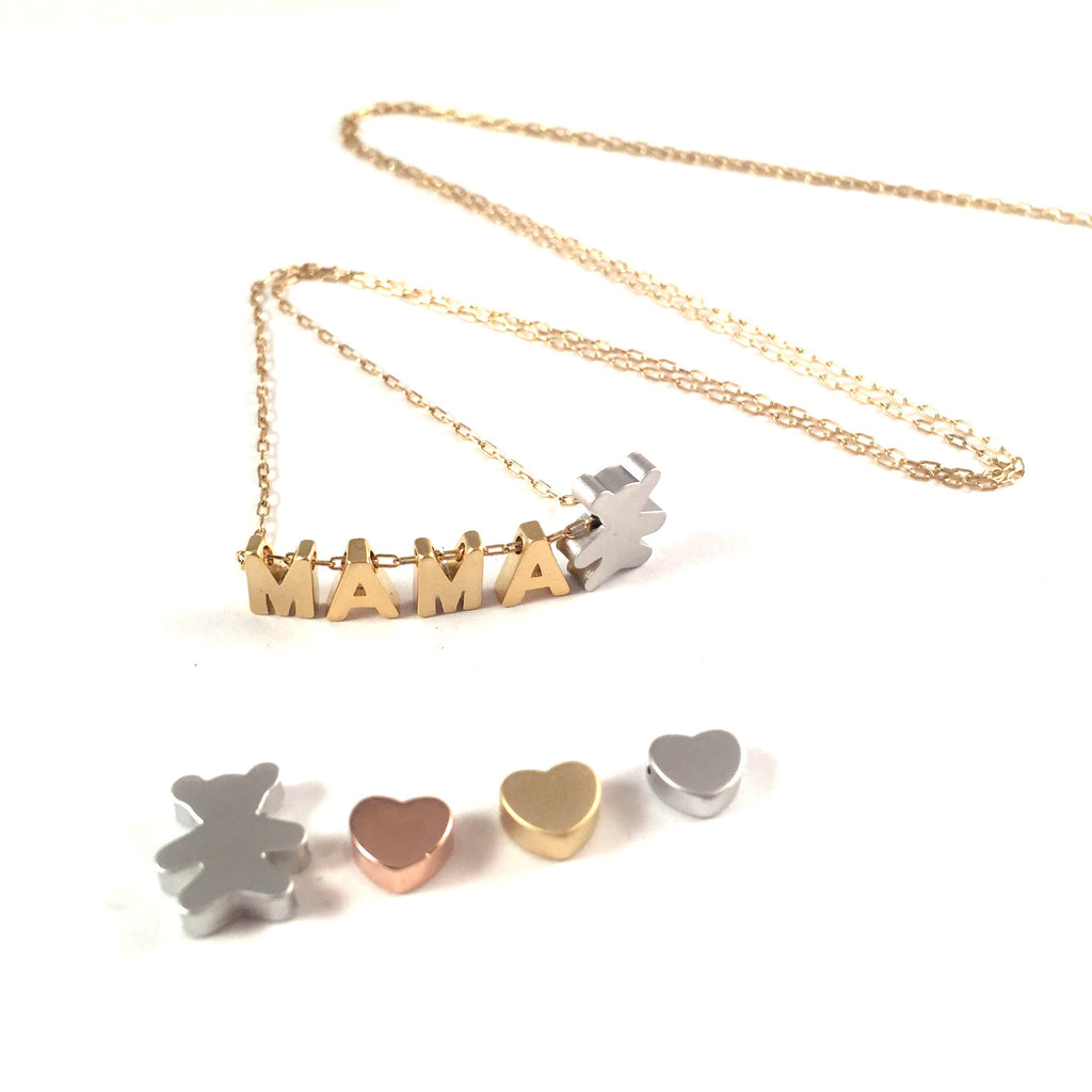 Mama Necklace Add On | Bear or Heart