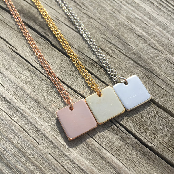 Petite Square Necklace