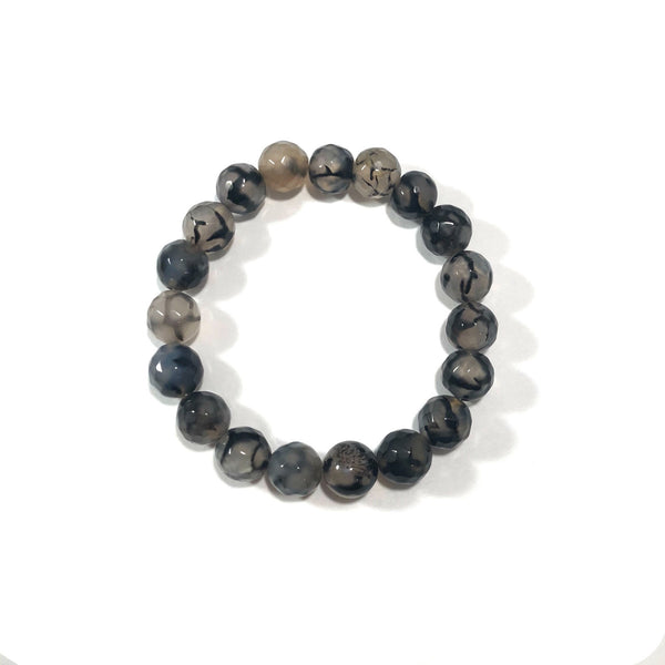 Agate | Grey Veined | 10mm
