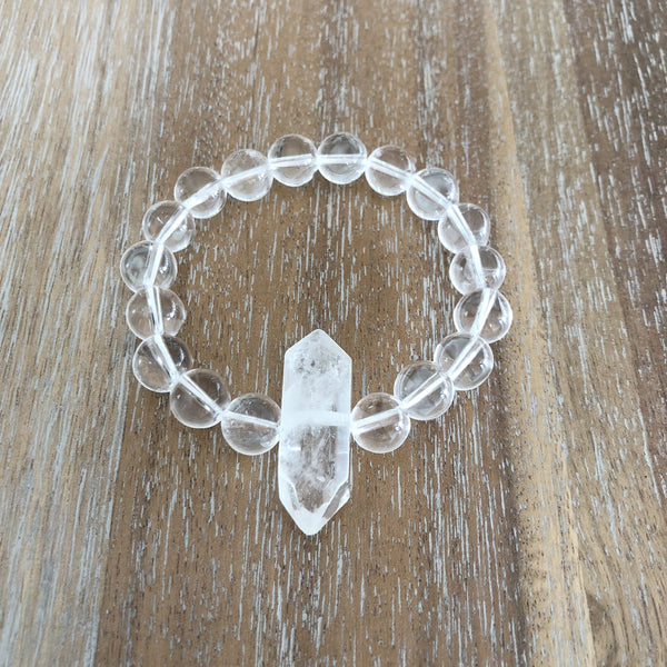 JUJU Classic Bracelet | Clear Quartz | 10mm