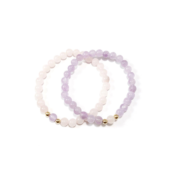 A Piece of Me Set | Friends | Amethyst + Rose Quartz