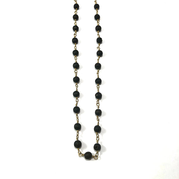 Lava Rosary Style Diffuser Necklace | Original