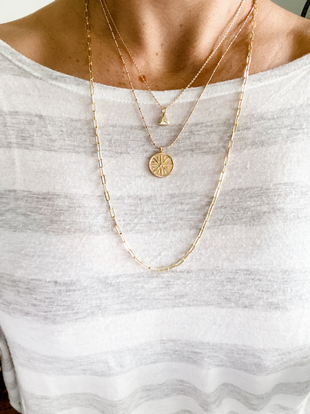 Sweet Paperclip Necklace 25.5"
