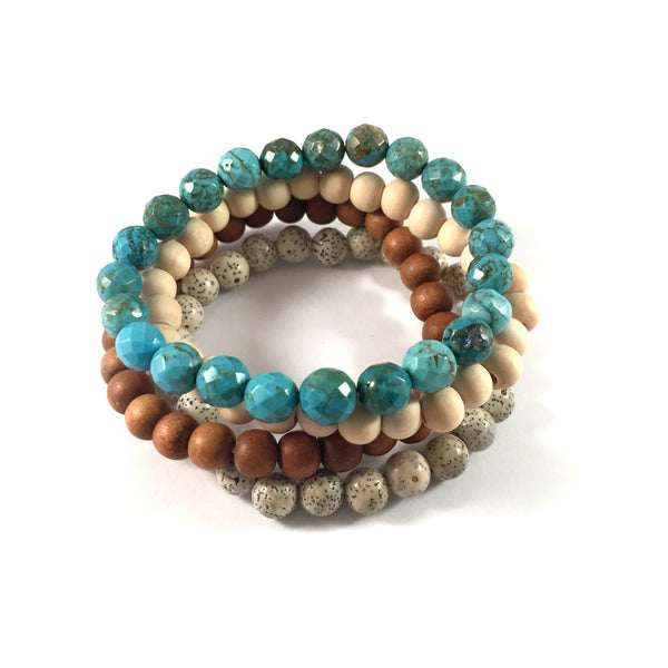 MAXI Stack | Neutral | Earthy + Turquoise