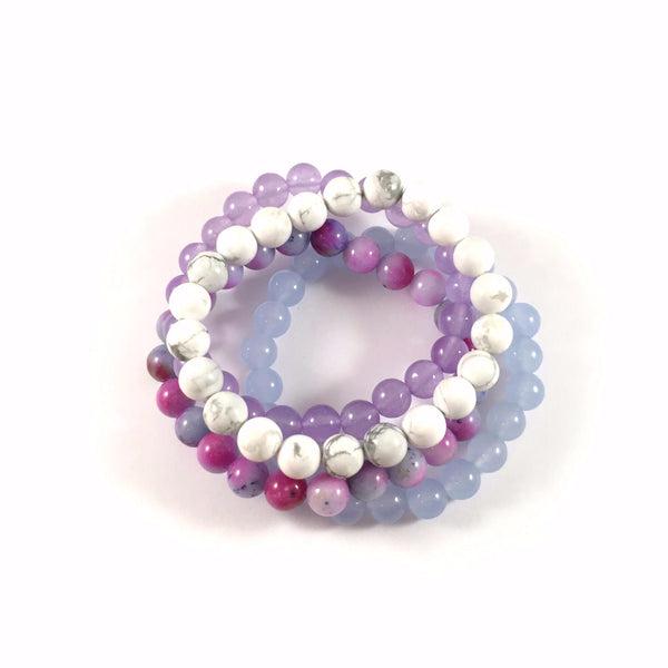 MAXI Stack | Blue, Purple, White Watercolor