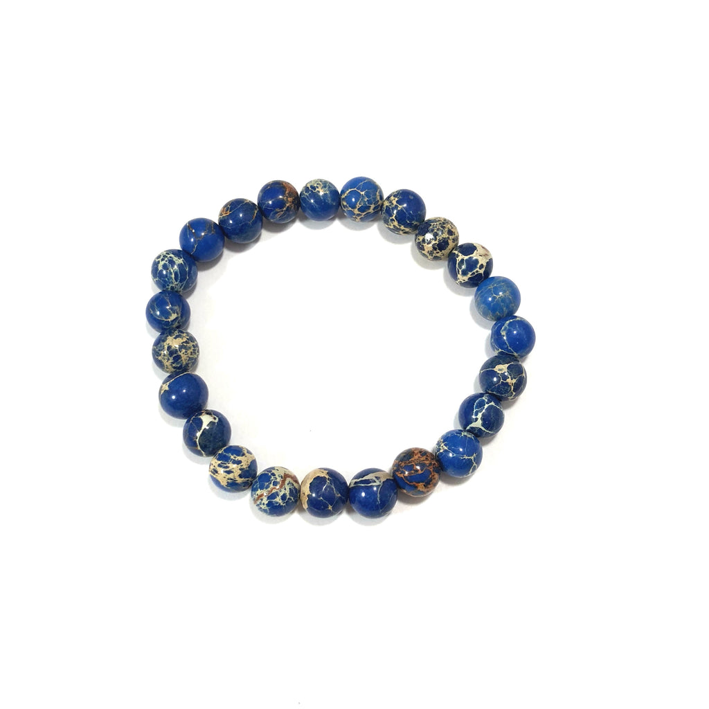 Jasper | Sea Sediment in Blue | 8mm