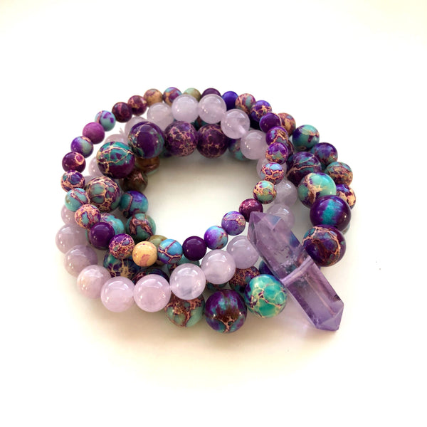 The PEACE + BALANCE JUJU Set in Sea Sediment Jasper | Limited Edition