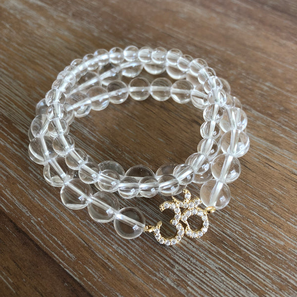 Pave Ohm Stack | Clear Quartz