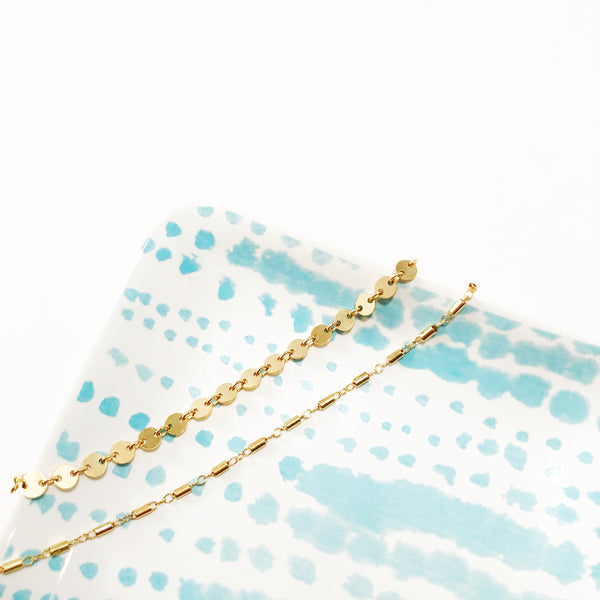 Dashes + Dots Bracelet Set | Gold Filled