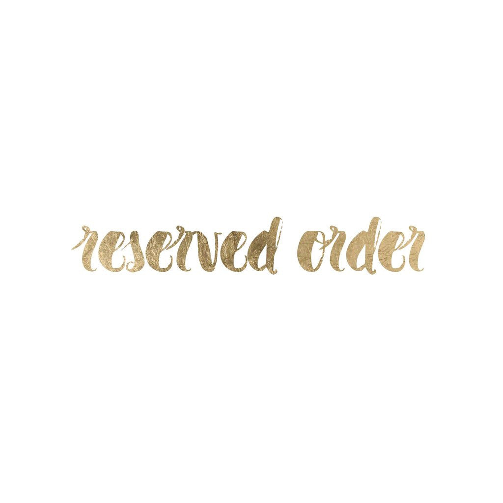 Reserved Order - Be Bold Enjoy The Journey