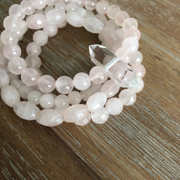 The LOVE JUJU Bracelet Set in Rose Quartz | Limited Edition