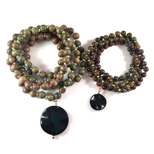 Mini + Me Rainbow Mala Set in Onyx | One Set Only