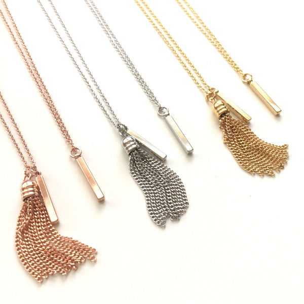 Petite 4-Sided Bar Necklace