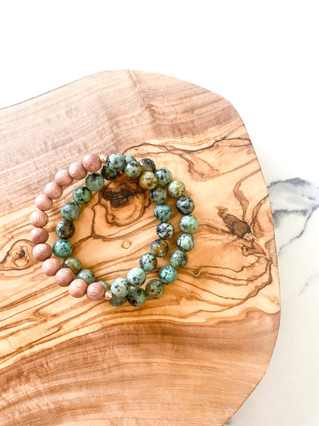 Happy Bracelet Stack | African Turquoise