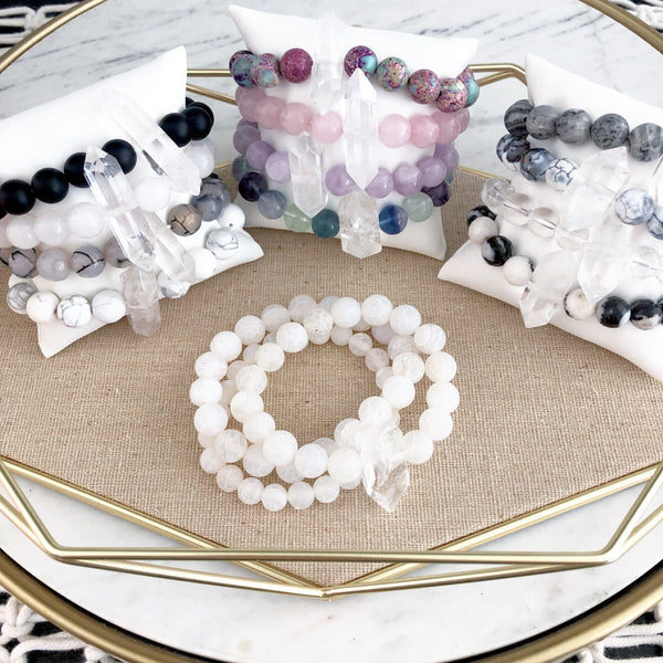 The STRENGTH JUJU Bracelet Set in Agate