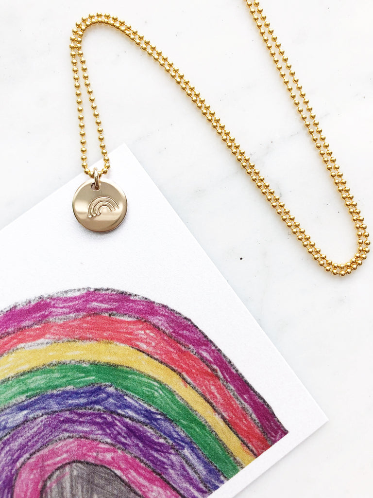 Rainbow Disk Necklace | 3/8"