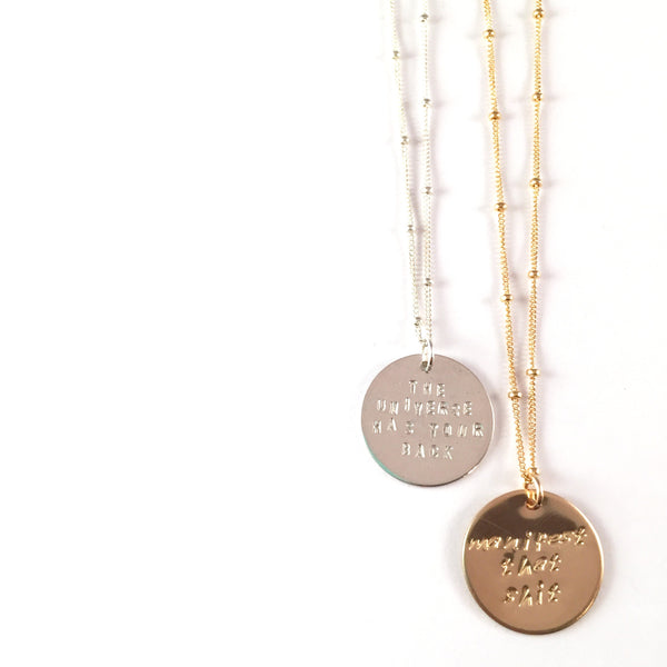 Custom | Coin Necklace | Gold or Silver