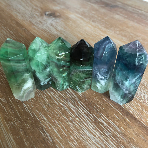 Fluorite Standing Wand Point