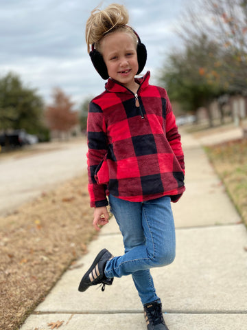 BUFFALO PLAID PULLOVER - ADULT + CHILD - MAMA + LULU