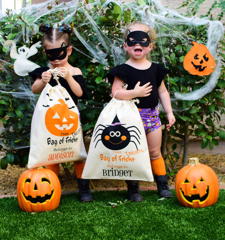 TRICK OR TREAT BAG - PERSONALIZED - MAMA + LULU