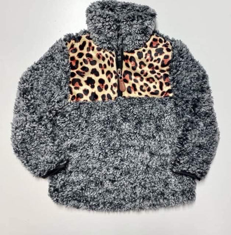 LEOPARD PANEL SHERPA - ADULT + KIDS - MAMA + LULU
