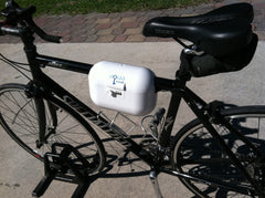AquaVault personal safe can go on bikes