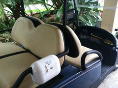 Golf Cart Lockbox to keep your valuables safe while playing