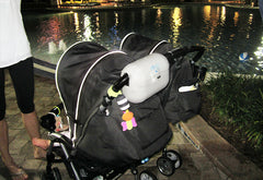 AquaVault on a stroller