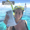 Waterproof Floating Phone Case by AquaVault  snorkeling