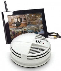 C1545 - Zone Shield Smoke Detector Night Vision QUAD LCD (side view)