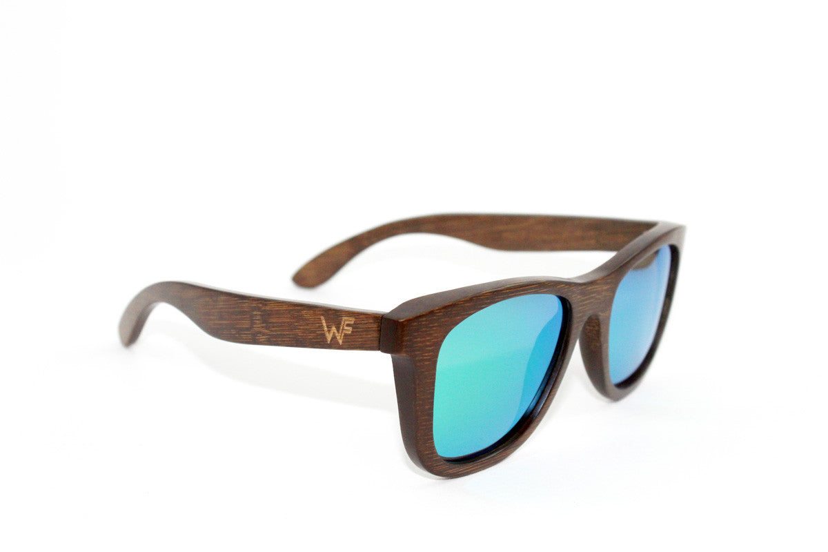 Woody Frames | Bamboo Sunglasses | Electric Green Boozers