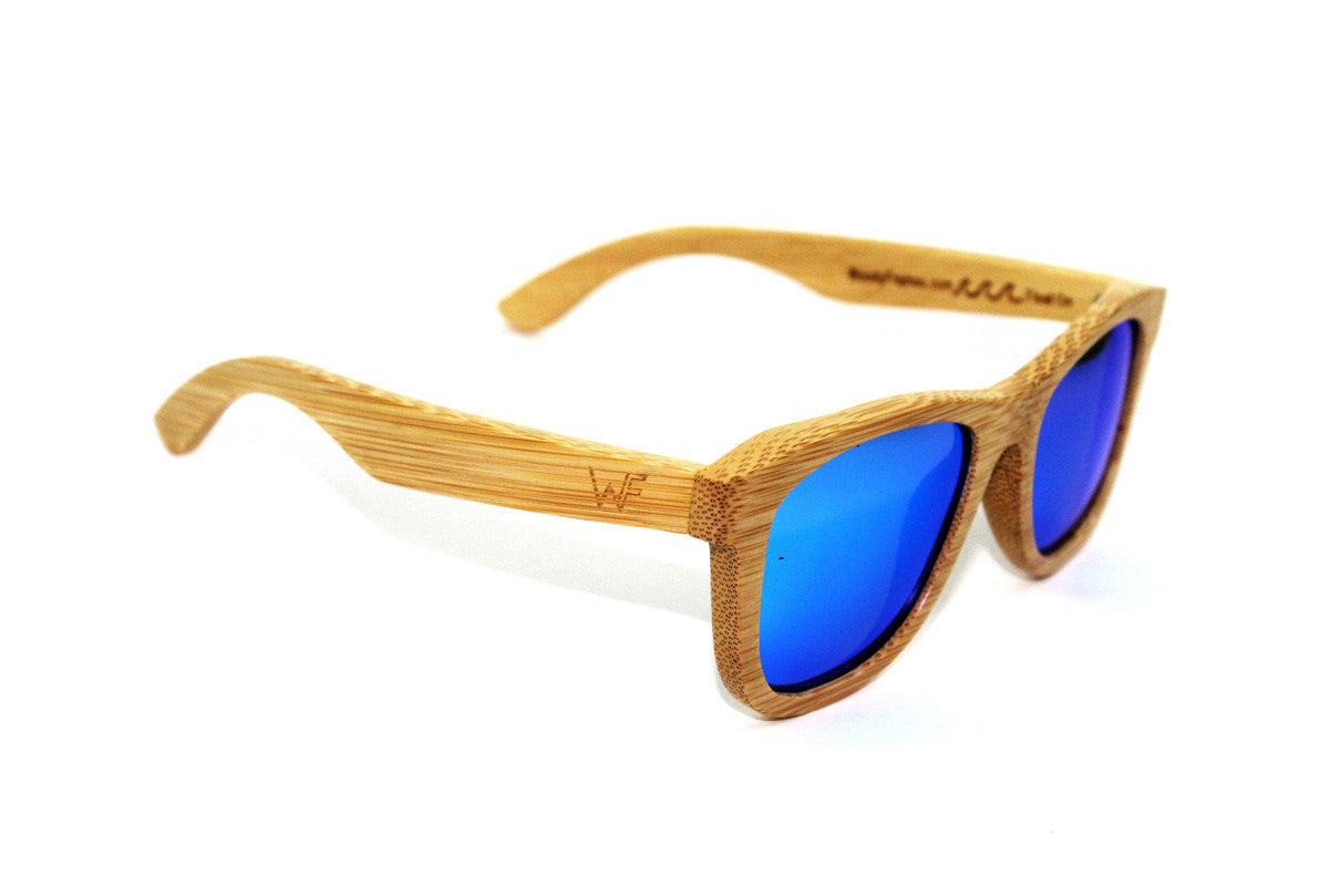 Woody Frames | Bamboo Sunglasses | Sky Blue Boozers