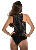 Net Hole Corset w/Demi Cup and Panty - PlaythingsMiami