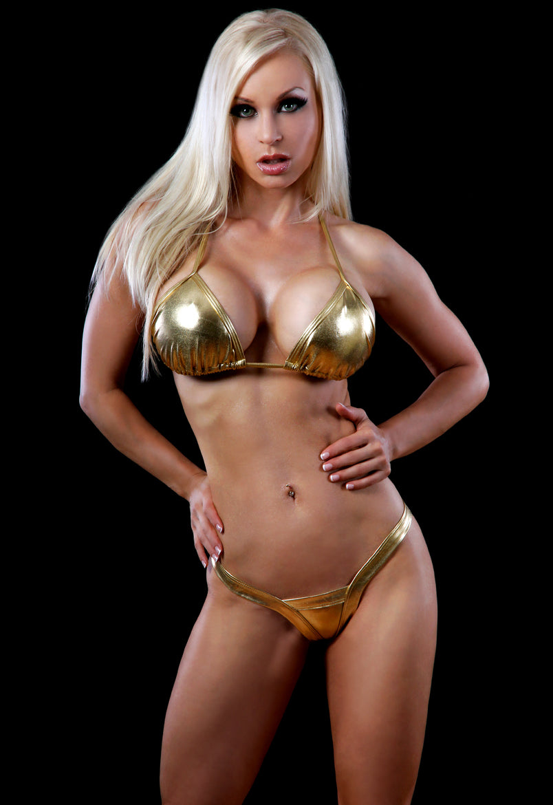 Metallic V Thong * Assorted Colors* - PlaythingsMiami