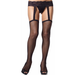Fishnet Garterbelt Stocking - PlaythingsMiami
