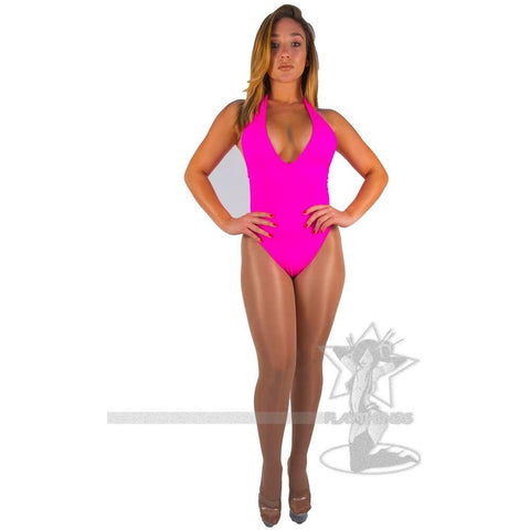 Hater High-Cut Romper Hot Pink