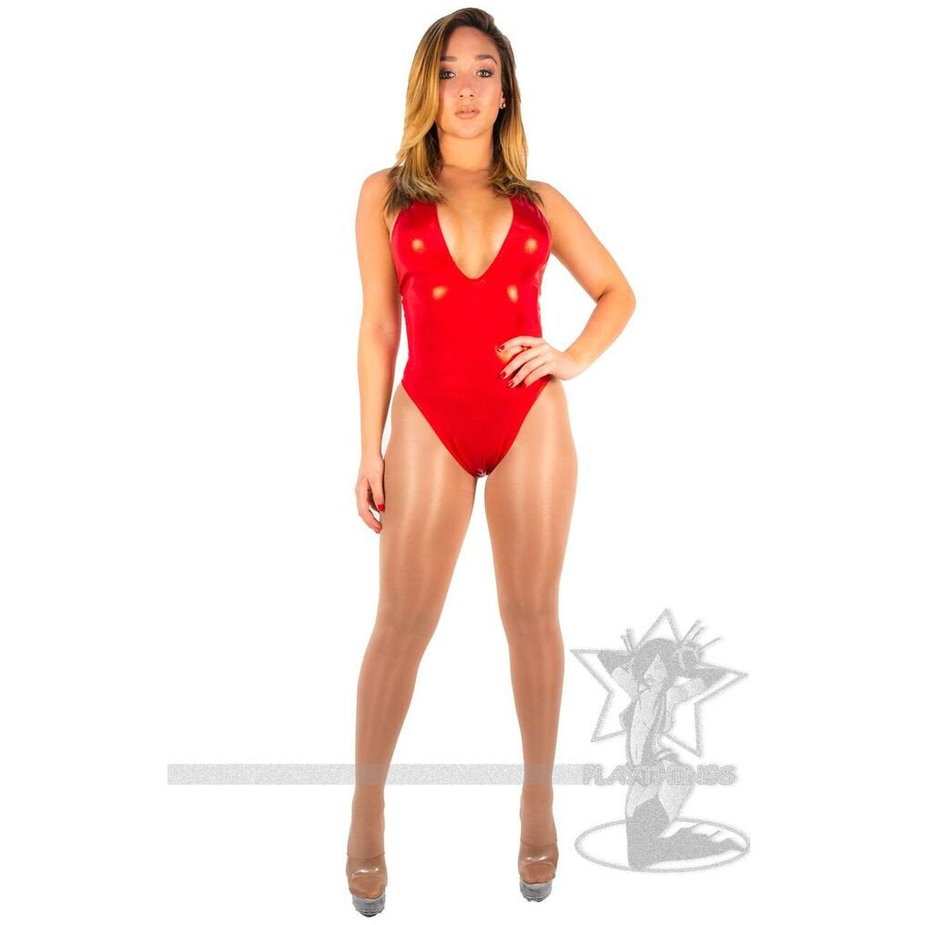 Hater High-Cut Romper Red Foil - PlaythingsMiami
